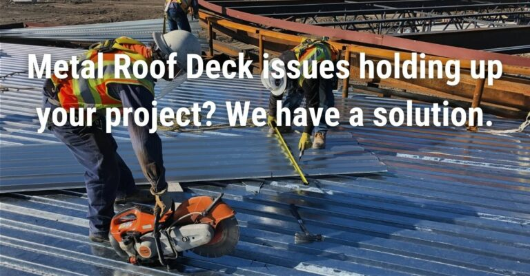 Metal Deck shortages - 1