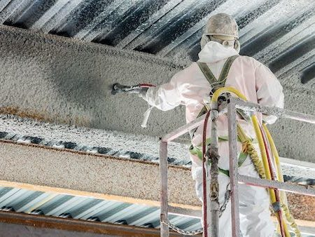 Spray Applied Fireproofing close - Home Page - 450x338